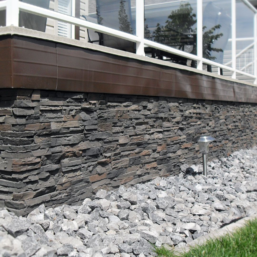 Adding A Stone Skirt To Your Deck Really Dresses It Up