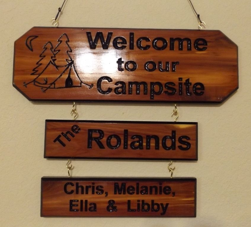 Merveilleux Personalized Custom Carved Camping Cedar Wood Sign Rustic Plaque Home Decor