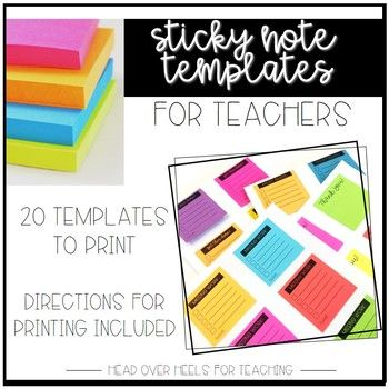 Sticky Note Templates For Teachers  Notes Template Sticky Notes