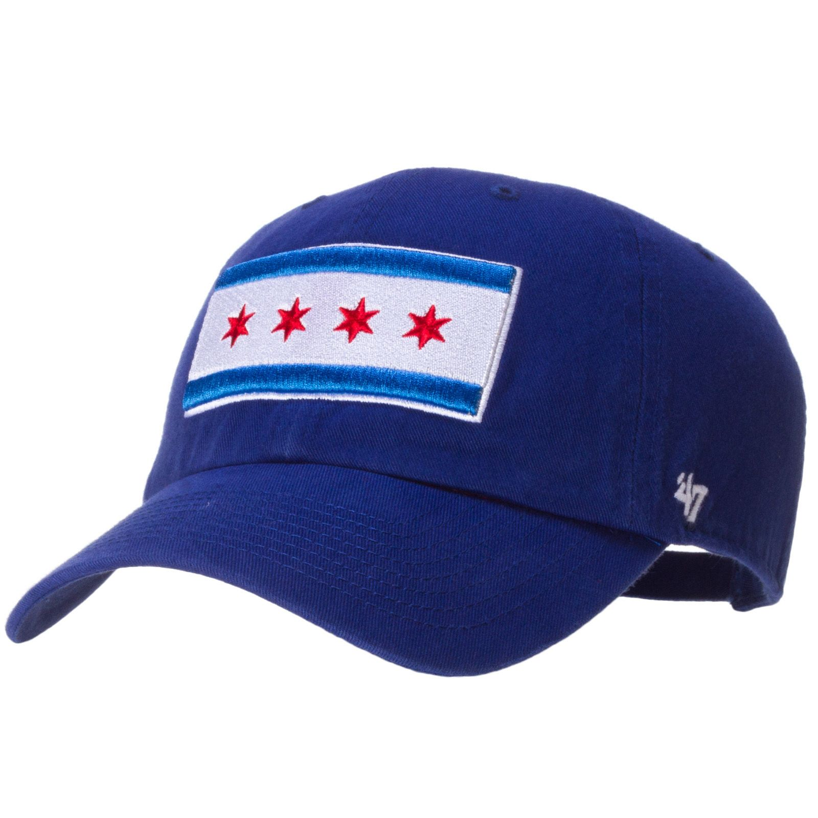 6c6f6acd075 Chicago Cubs Royal Chicago Flag Adjustable Hat with Crawl Bear Logo On Side  by 47 Brand  Chicago  ChicagoCubs  Cubs  Cubbies  ChicagoFlag
