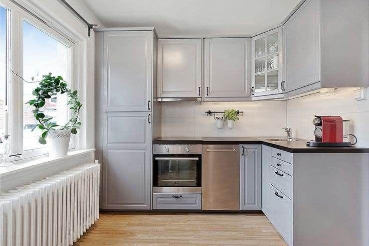 фото кухня серая