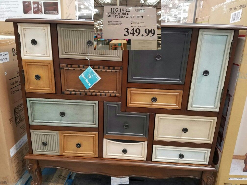 Wonderful Multi color multi drawer/door dresser @Costco in 43.75L x 20W x  ED52