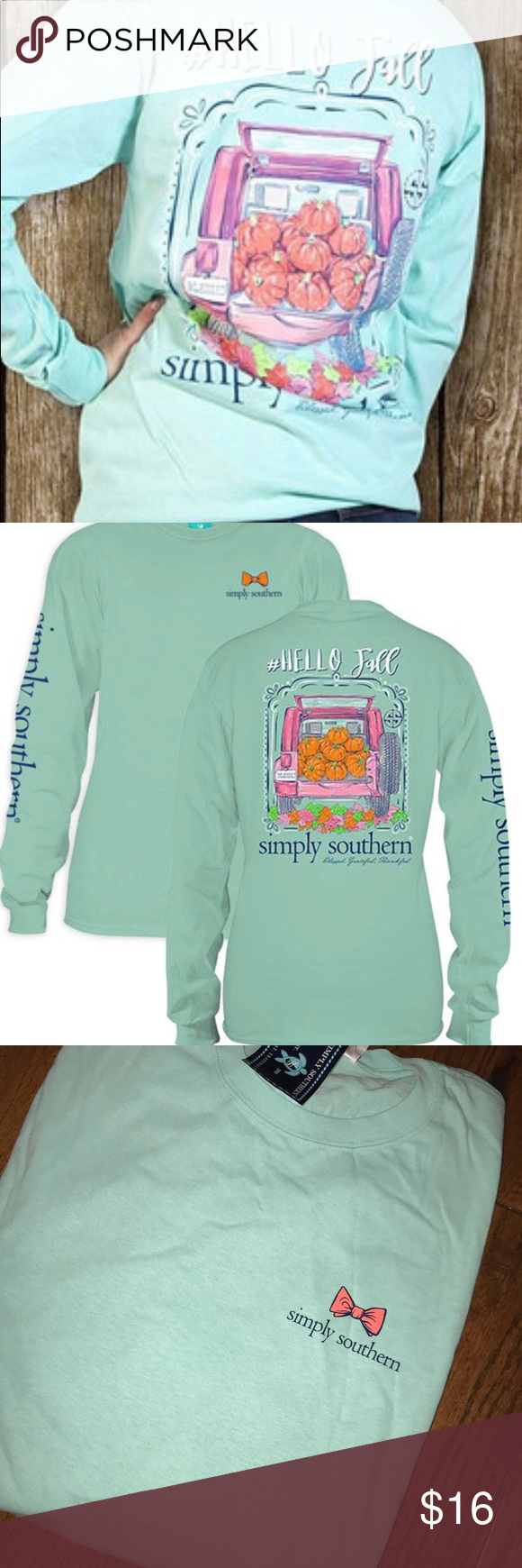 af73f78248a Simply Southern Hello Fall Pumpkins Long Sleeve L This is my favorite Simply  Southern Tee ever