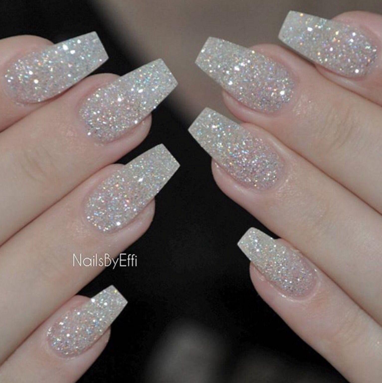 Glitter Nails Wedding Nails Glitter Glitter Tip Nails Nail Designs