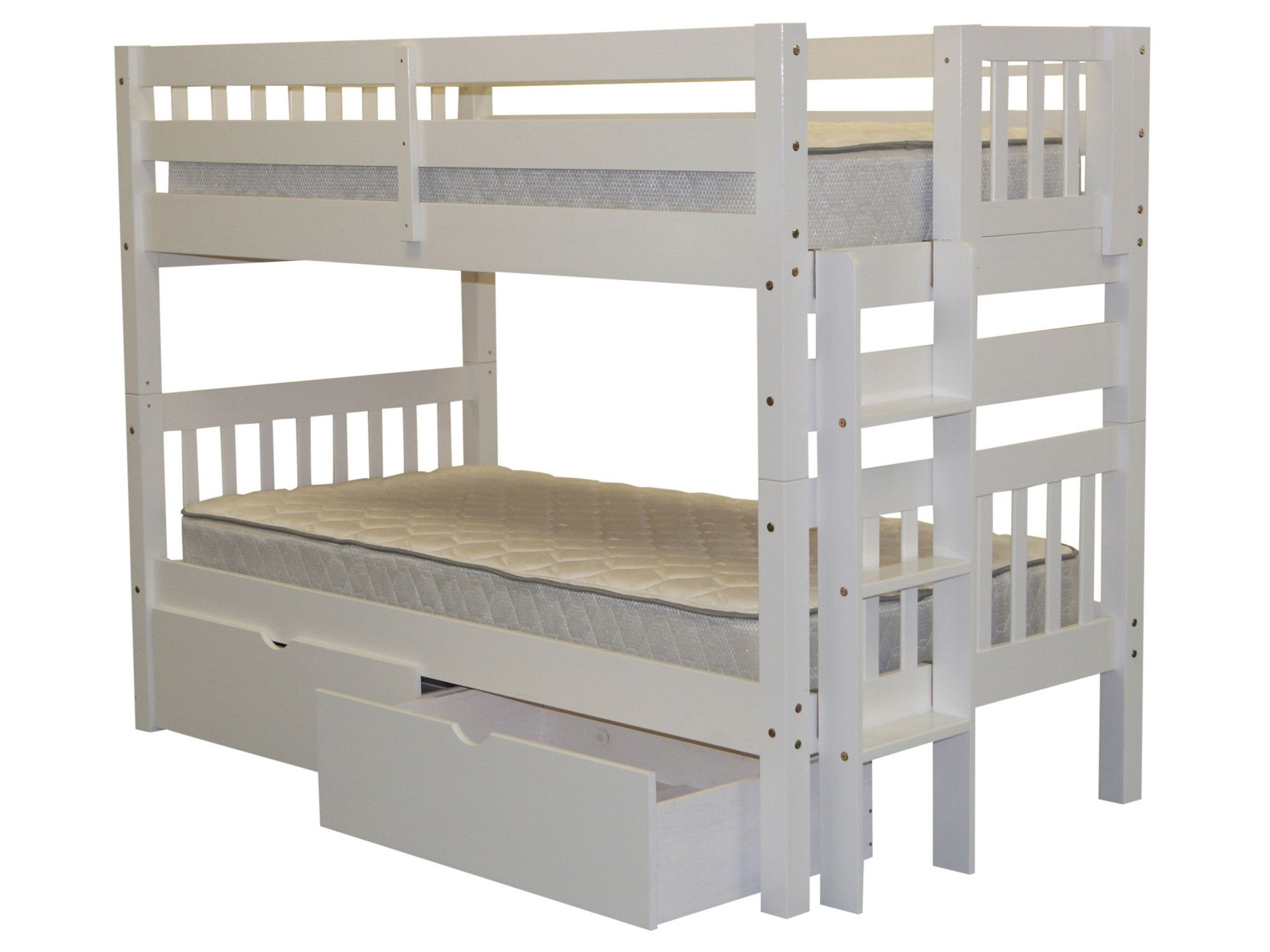 Master bedroom shelves above the bed  Mission Twin over Twin Bunk Bed with Storage  Twins and Products