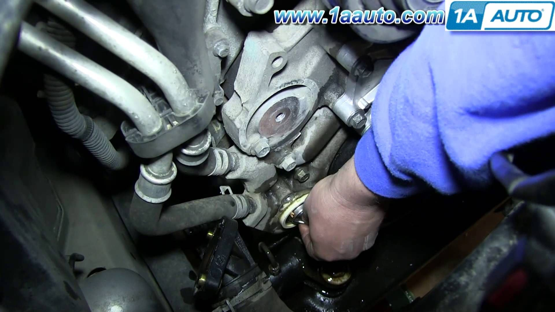 cool how to install replace engine coolant thermostat and housing 3 7l 2002 2013 jeep liberty [ 1920 x 1080 Pixel ]