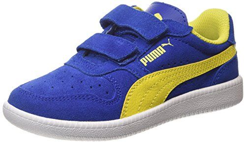 Puma Unisex-Kinder Smash V2 SD V PS Sneaker, Blau (Peacoat White 2), 31 EU