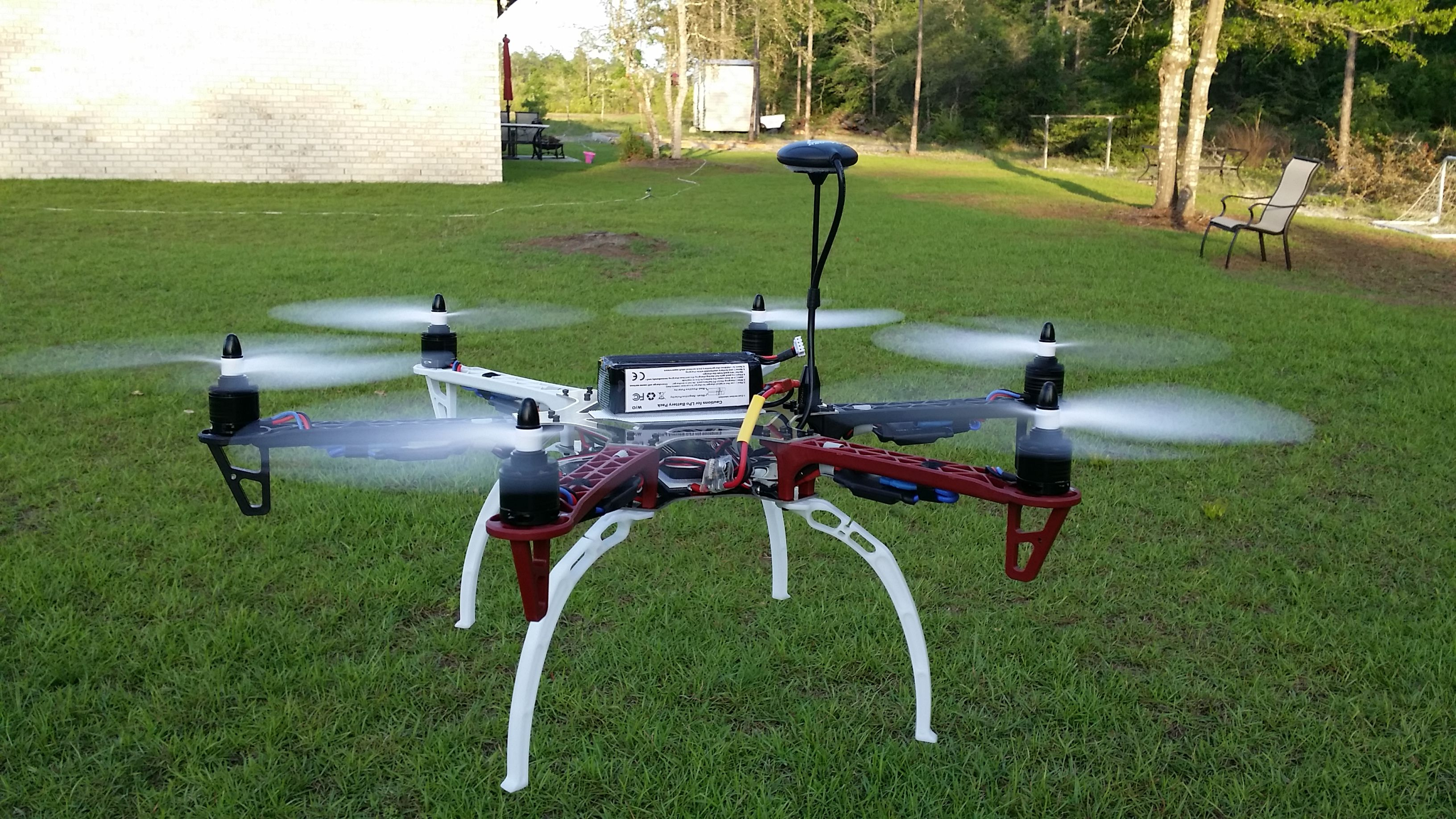 This is an F550 Hexacopter. It has a gimbal and camera on it now.