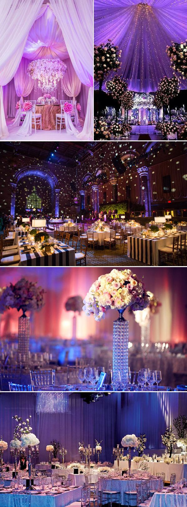Wedding decoration ideas purple   Stunning Luxury Indoor Reception Decoration Ideas You donut Want
