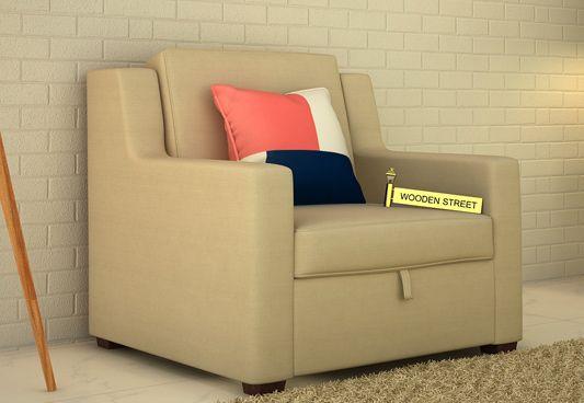 Buy Nobel 1 Seater Fabric Sofa Online In Irish Cream The Classy Sofa Single Seater Is Must Have Furniture Unit For Single Seater Sofa Sofa Online Seater Sofa