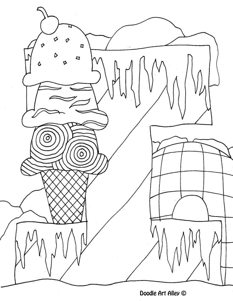 Letter Coloring Pages Doodle Art Alley  Coloring Pgs