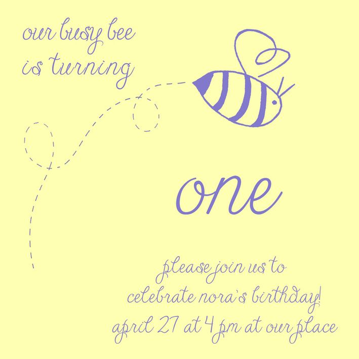 Bumble Bee Birthday Party Theme Busy Invitation Calm Cradle Photo