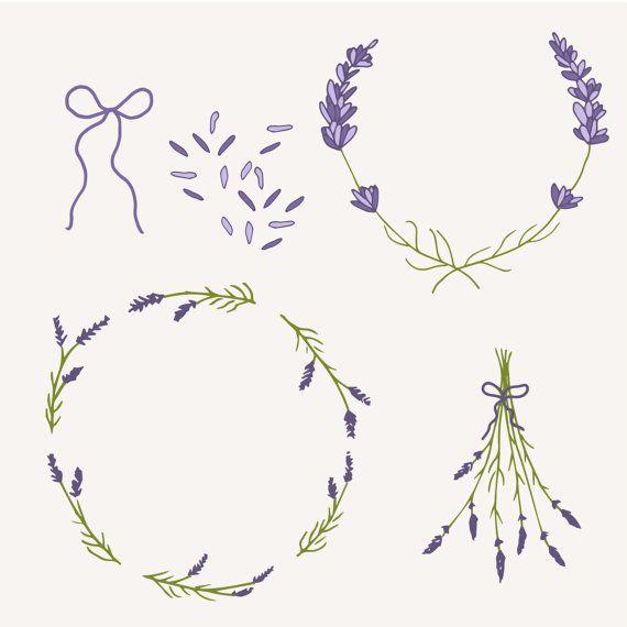 clip art lavender sprigs photoshop brushes digital elements rh pinterest ca Lavender Sprig Outline Lavender Sprig Arch Clip Art