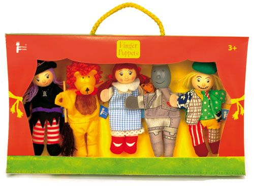Fiesta Crafts Wizard Of Oz Hand and Finger Puppet Set