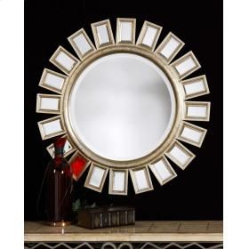 Perfect Uttermost 14076B Cyrus: This Round, Beveled Mirror Has A Wood Frame And Is  Accented Amazing Ideas