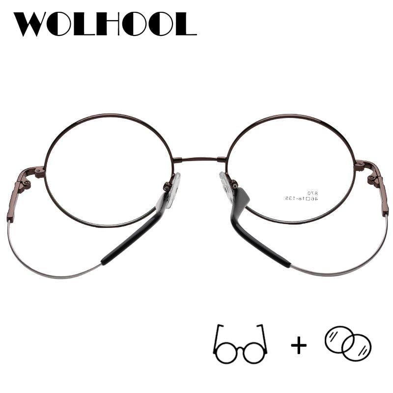 9a4bedeb4a Eye Glasses · Sunglasses · Designer Brand Round Flexible Memory Titanium  Rimless Eyeglasses Optical Glasses Myopia Prescription Glasses Men Oculos De