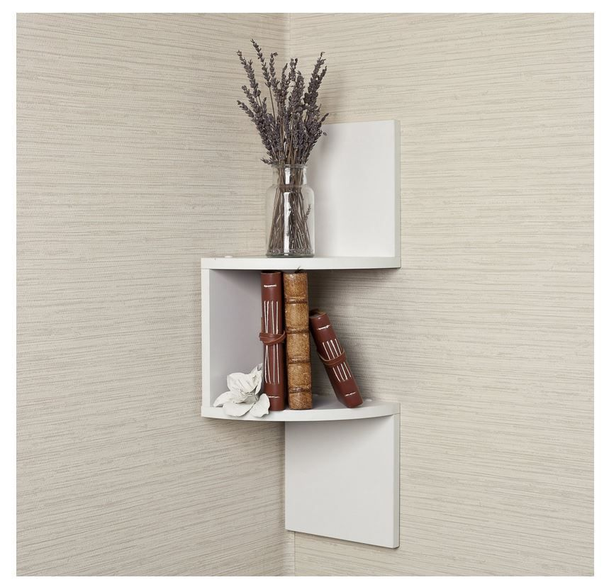 White Corner Shelf Modern Home Decor Wall Zig Zag Shelves Storage Pictures Toys Corner Shelves White Corner Shelf Large Corner Shelf