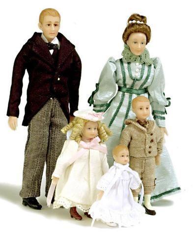 Drummond 5 Piece Victorian Doll Family