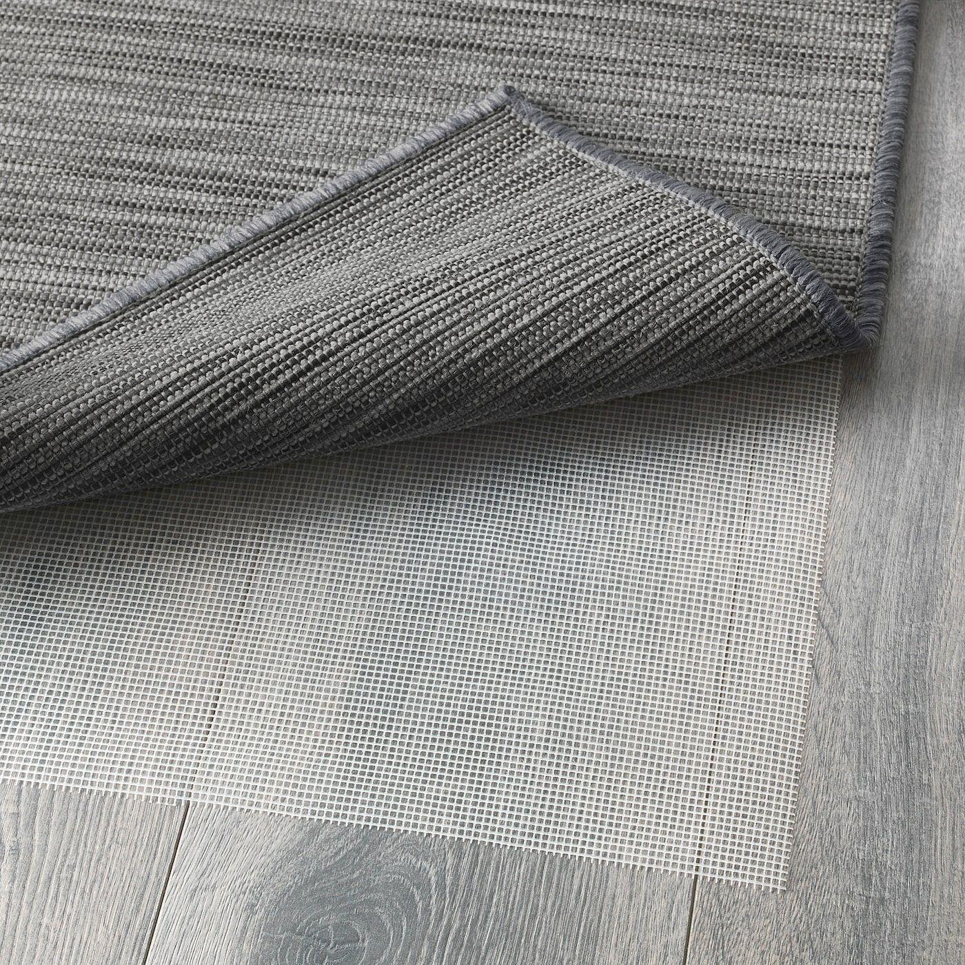 Hodde Tapis In//Outdoor flatwoven 200x300 cm gris//noir