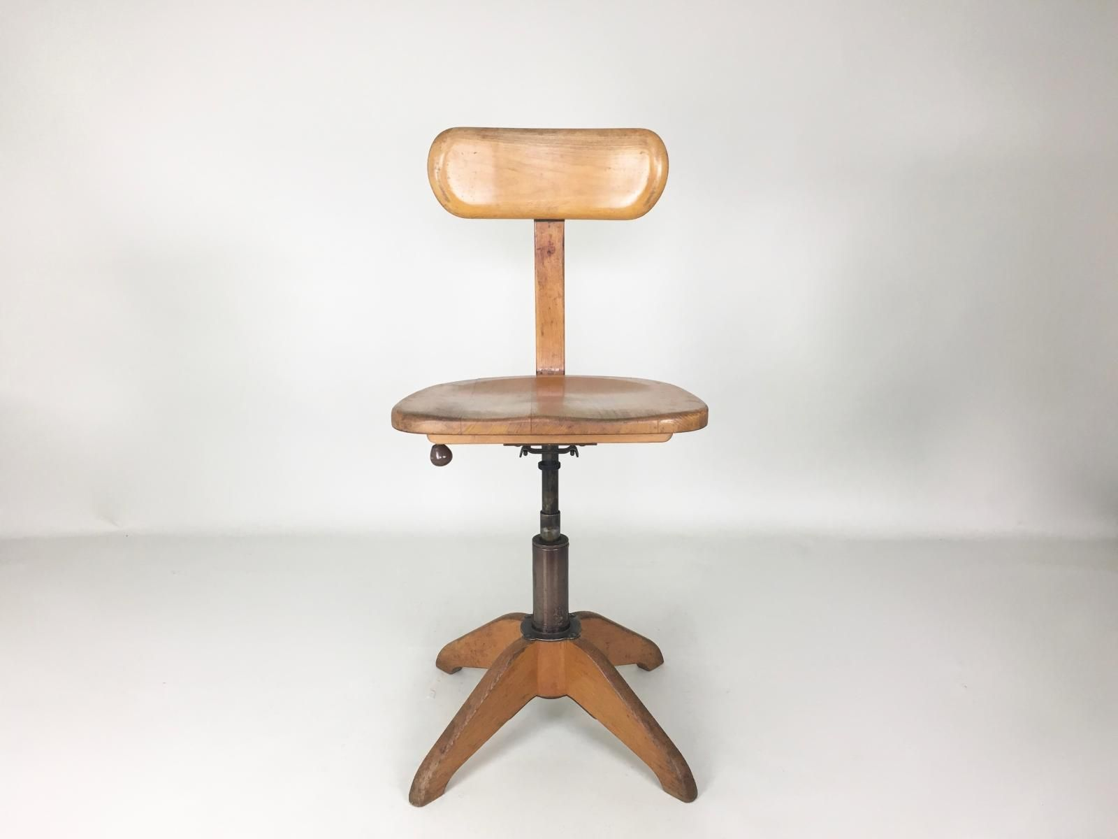 Chaise De Bureau Vintage Industrielle De Giroflex Stoll 1930s 2