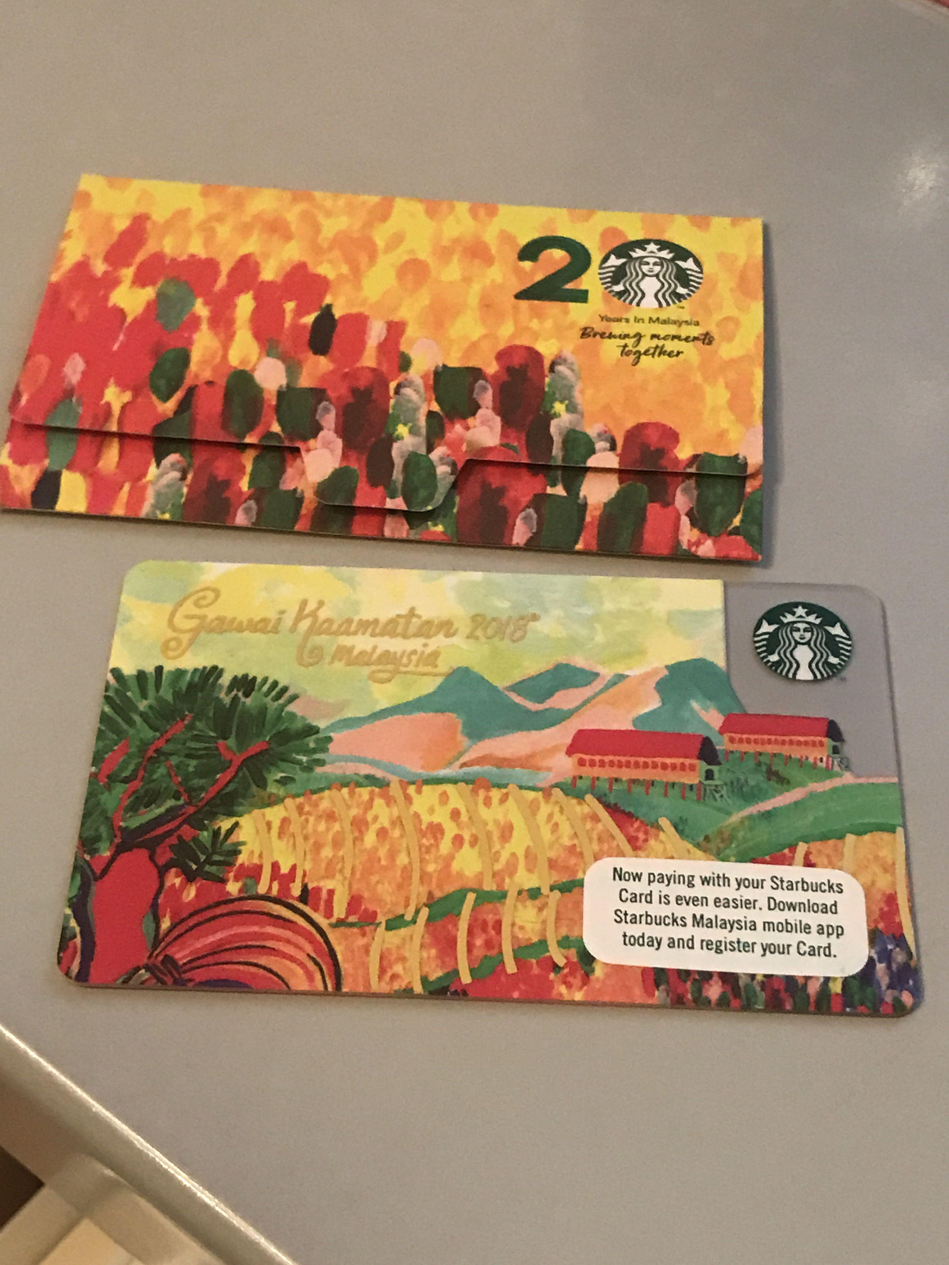 Gawai Kaamatan 2018 Starbucks gift card, Member card
