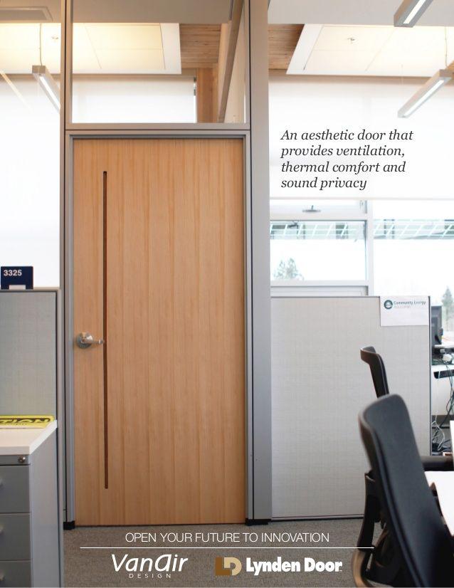 Lynden Door Vanair Ventilated Architectural Door On Exhibit