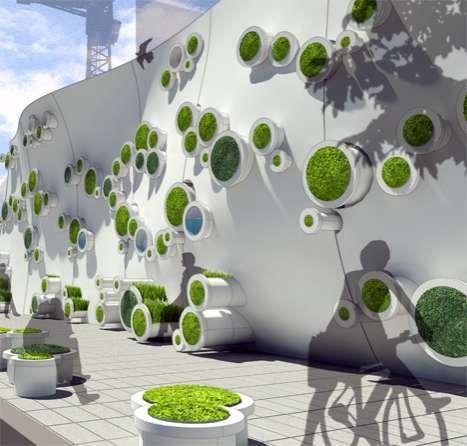 Eco Construction Buffers Living Green Walls Green Wall Living Wall