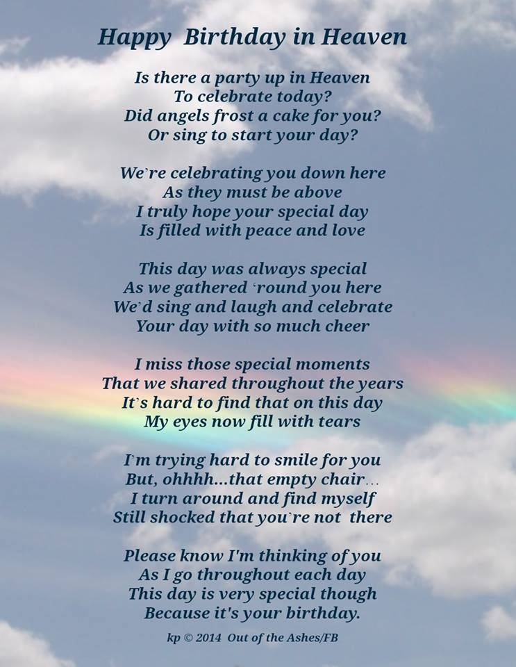 Happy Birthday In Heaven By Kp C 2014 Happy Birthday Mom July 24