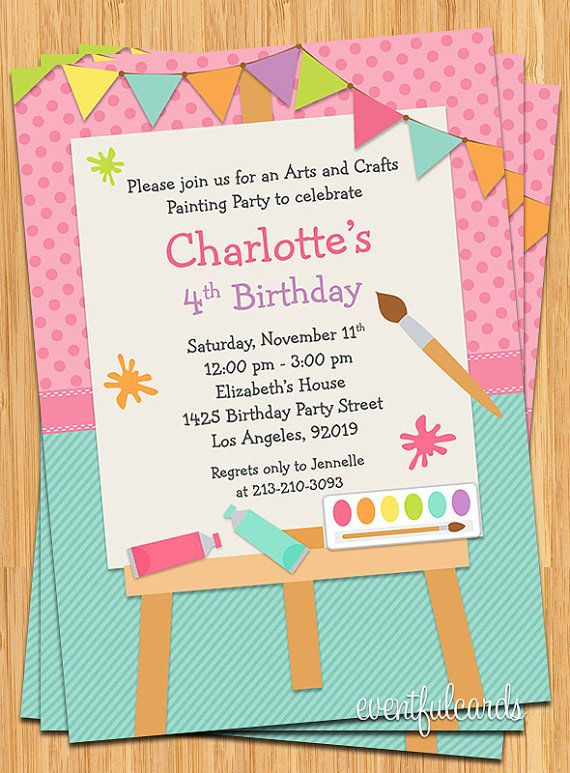 Art Themed Birthday Party Invitations Free Invitation Templates Drevio Birthday Party Invitations Free Birthday Invitations Kids Paint Party Invitations