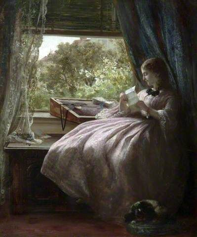 Old Letters - Frederick Walker (attributed to) - National Museums Liverpool