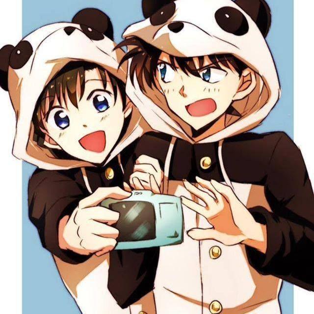 --Ran Mori and Shinichi--