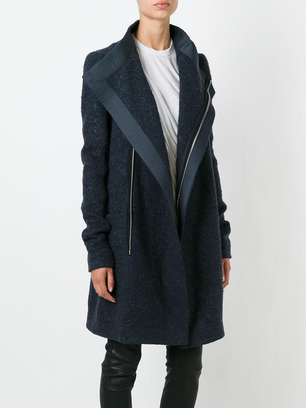Rick Owens Draped Collar Coat - Gigi Tropea - Farfetch.com