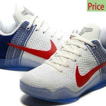 big sale d0a82 ade99 fashion shoes 2018 Kobe 11 XI Elite USA Olympics 2016 Rio White Navy sneaker
