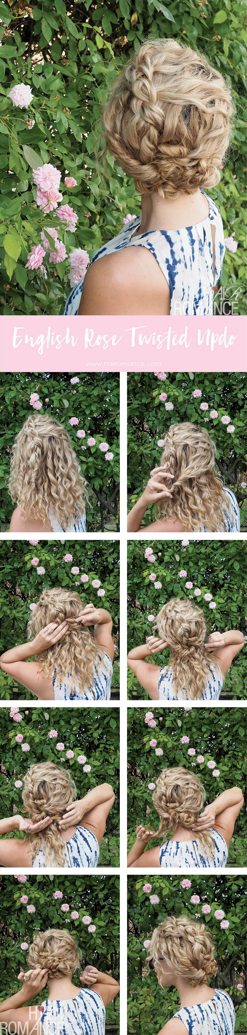 Bohemian braid to romantic updo u notting hill hairstyles curls