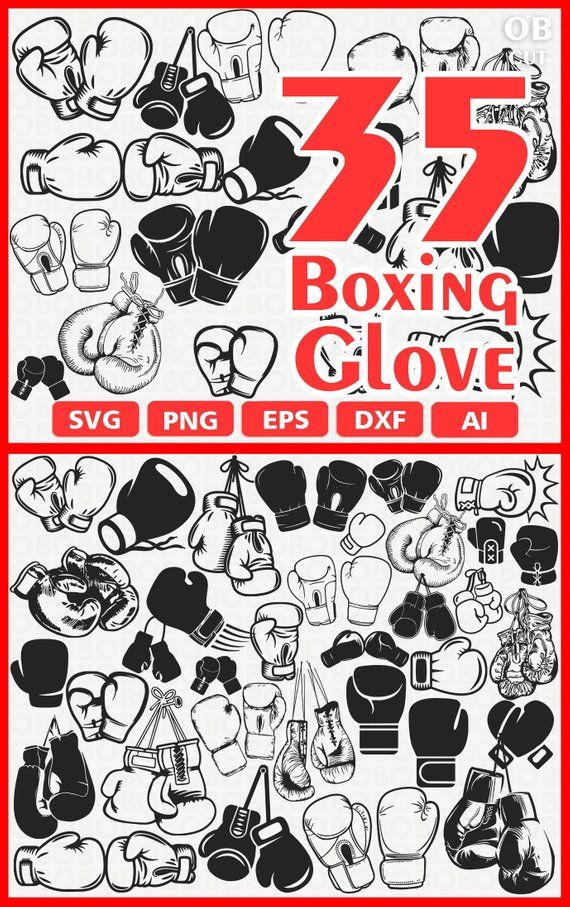 35 BOXING GLOVE Svg Eps Png Ai Dxf Format | Download Boxing Glove