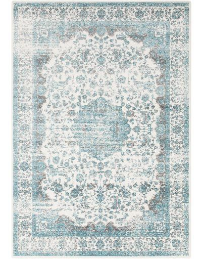 Samatha Blue Rug Teal Rug Teal Area Rug Persian Inspired Rug