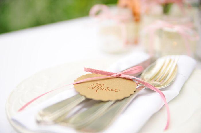 Namensschild Vintage name badge idea by Williams & Gauld - Design. Wedding. Events.