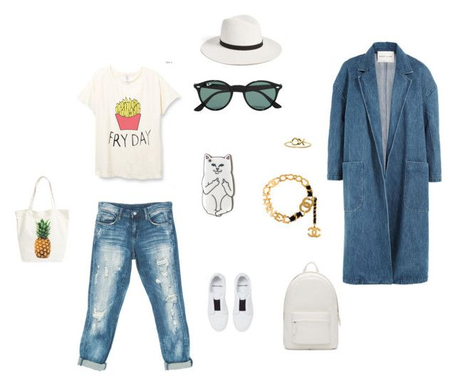 """""""be yourself - be fabulous"""" by karnosha-1 on Polyvore featuring Sans Souci, Pierre Hardy, Ray-Ban, Janessa Leone, Chanel, xO Design, Sandy Liang, BP. и PB 0110"""