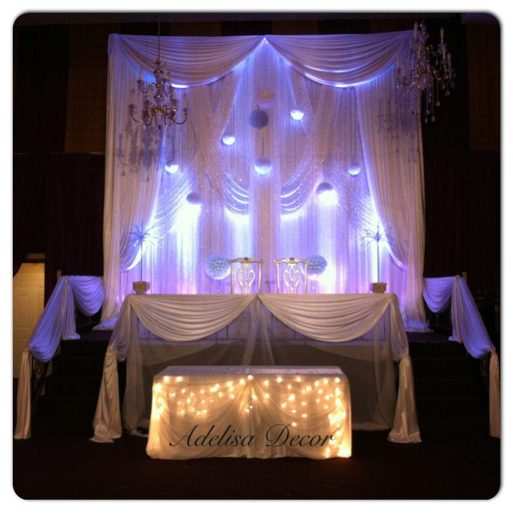 Celebrity Wedding Stage Decoration Photos: Beautiful All White Wedding & Stage Decor By Adelisa Decor