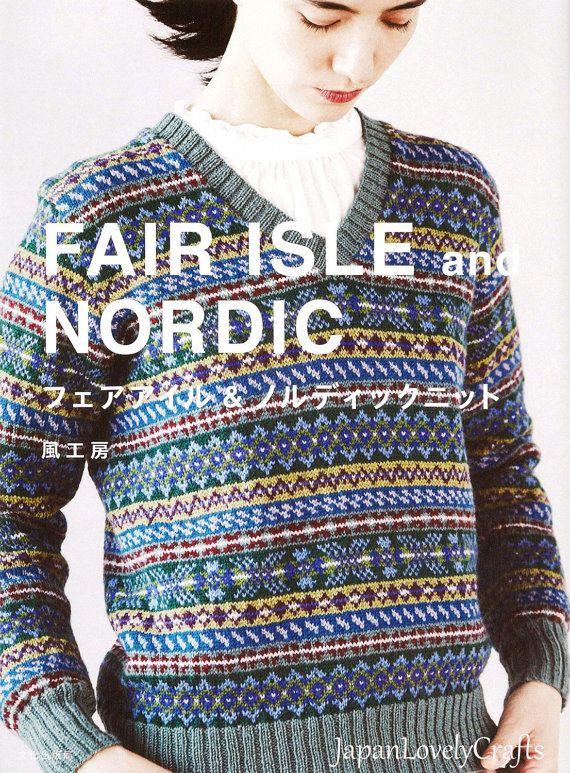 Kazekobo Fair Isle & Nordic Knit - Japanese Knitting Pattern Book ...