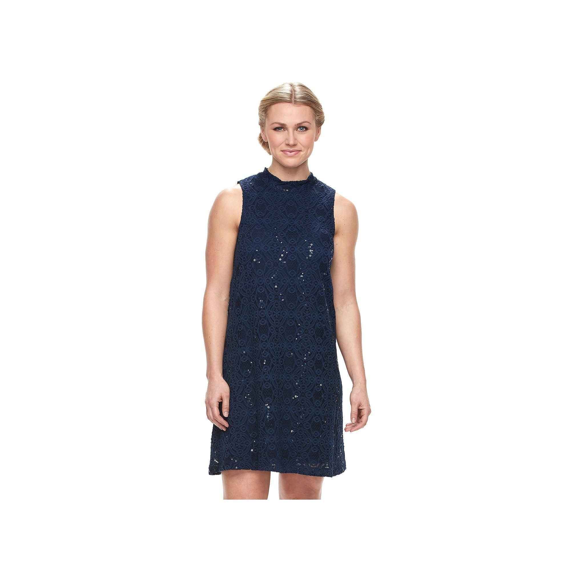 Womens Tiana B Sequin Lace Shift Dress Products Kohls