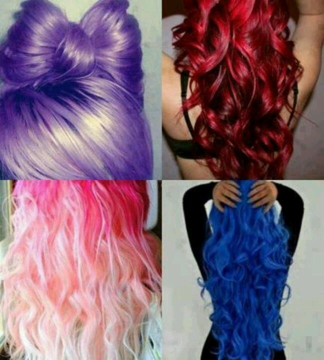 4 Colorful hair styles