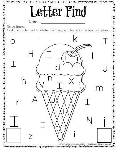 Cute Letter Find Worksheets with a Freebie | Kindergarten worksheets ...