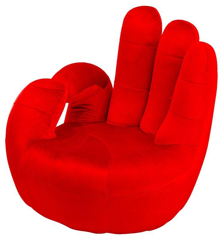 Armchairs : OKAY Red Hand Swivel Armchair Novelty Chair