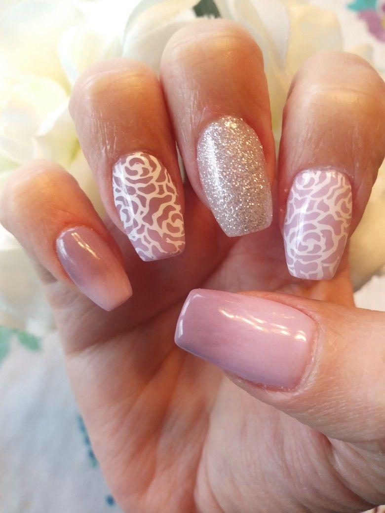Dip acrylic mani by Kiara sky with a gel polish ombre design and ...