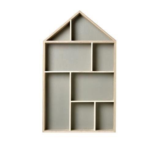 wandregal setzkasten haus natur grau 50cm setzkasten. Black Bedroom Furniture Sets. Home Design Ideas