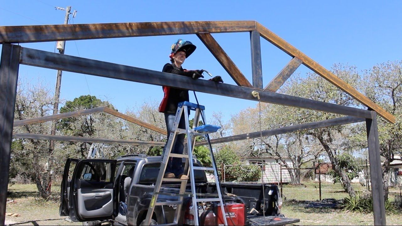 How To Build A Metal Carport Part 1 Youtube Metal Carport Tubing Metal Carports Building A Carport Carport