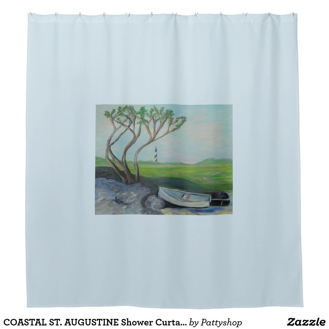 AUGUSTINE Shower Curtain Old Florida Curtains Coastal