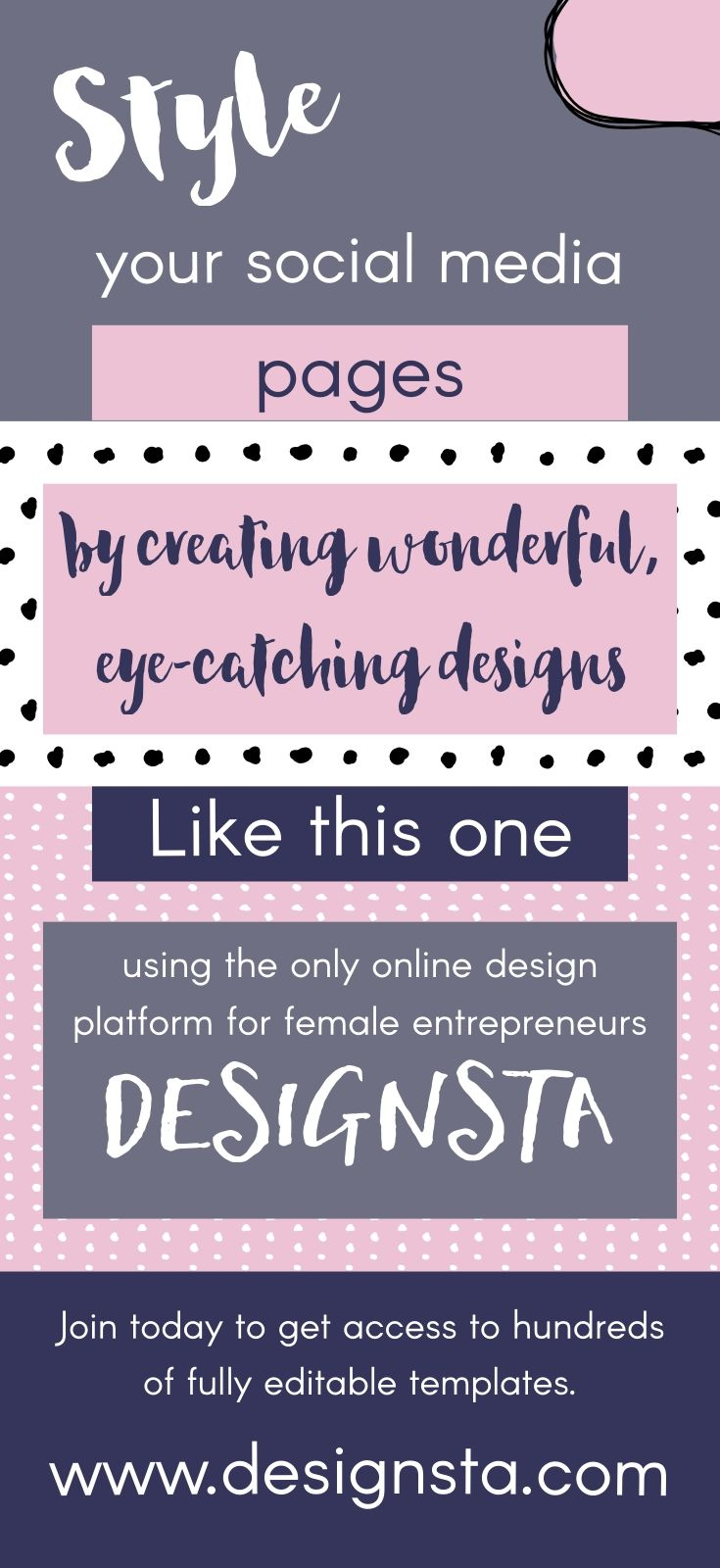 Create eye-catching social media graphics using Designsta. Get ...