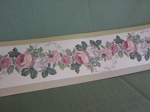 Laura Ashley Wallpaper Border Paper Ephemera Home Etsy Wallpaper Border Wallpaper Vintage Wallpaper